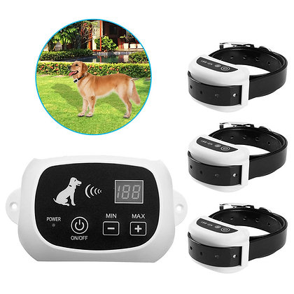 Retail  Wireless Electric Dog Pet Fence Containment System Transmitter Collar