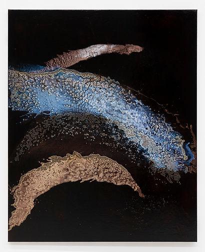 Georg Herold- Untitled 2020 caviar acryli