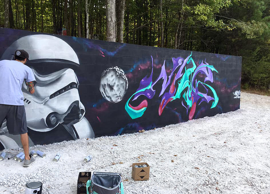 StarWars Mural by @neverxtinct and @magfour