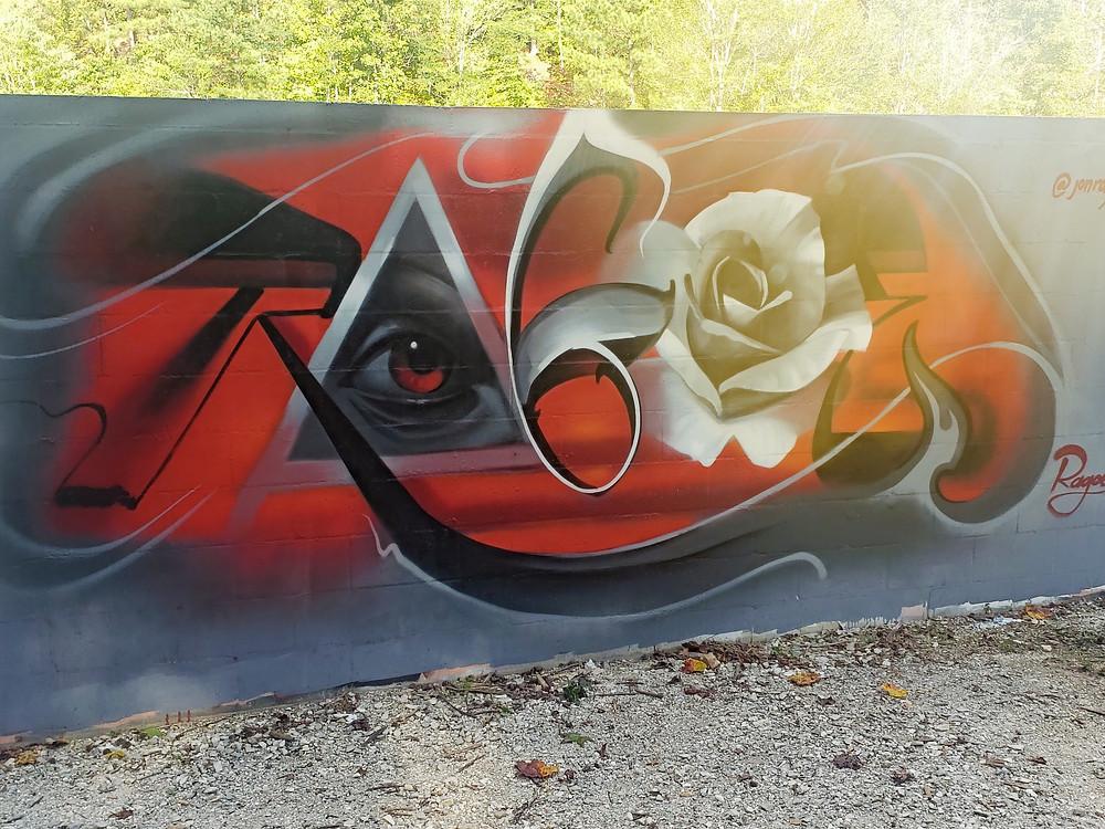 Rose, Graffiti, Mural