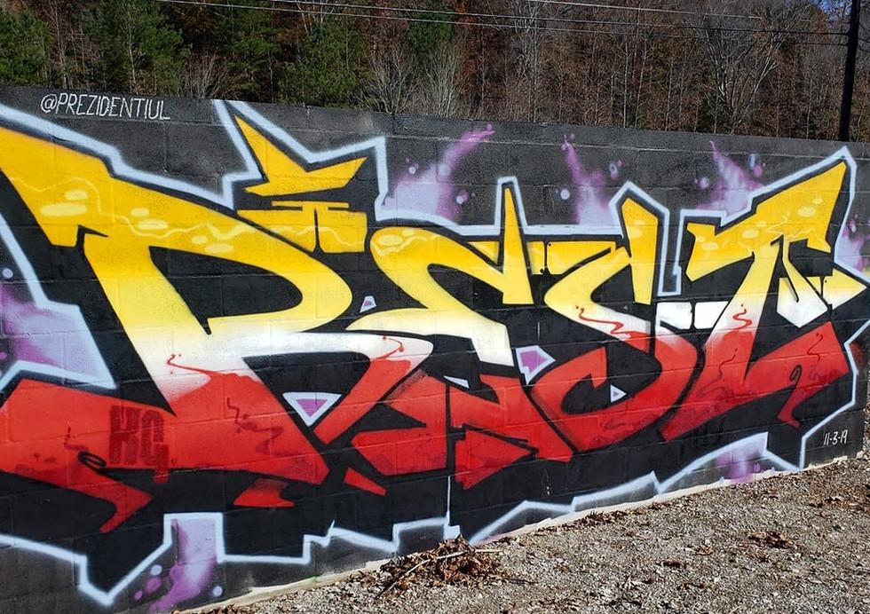 Graffiti Piece by @prezidentiul