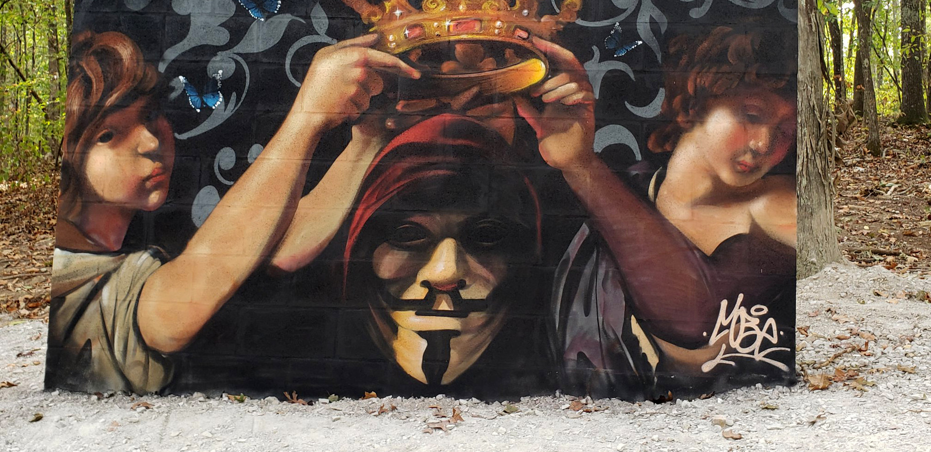Anonymous Mural by @mobeoner