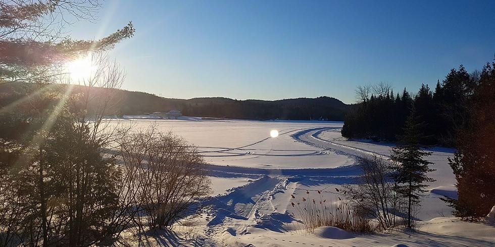 Balade sur le lac en hiver
