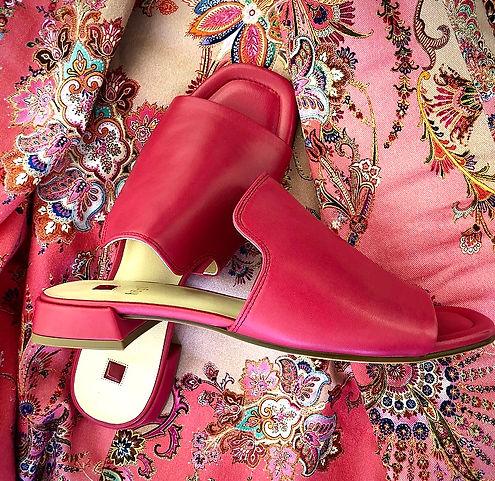 Pink Högl skind sandal