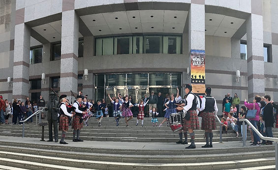 Our Older Dancers Demonstrate Scottish Dancing at the Raleigh International Festival