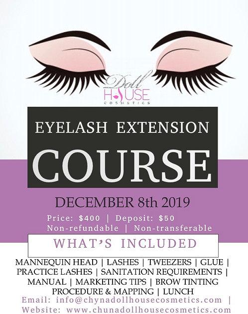 Eyelash Extension Course - December 8th *DEPOSIT ONLY