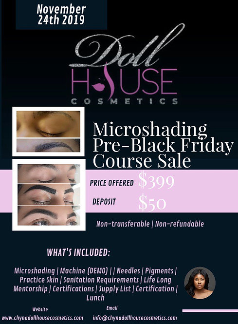 Microshading  Course - NOVEMBER 24th *DEPOSIT ONLY