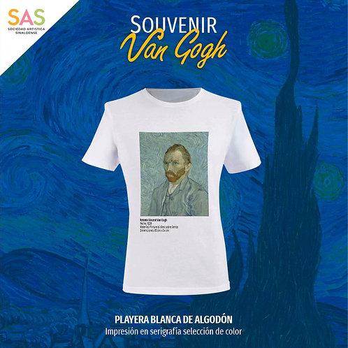 Playera blanca Vincent Van Gogh