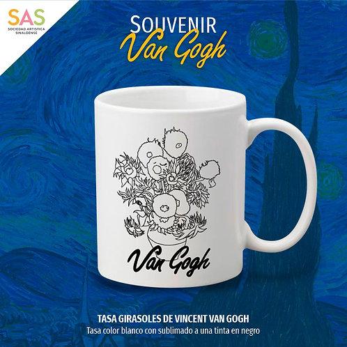 Tasa Giradoles de Vincent Van Gogh