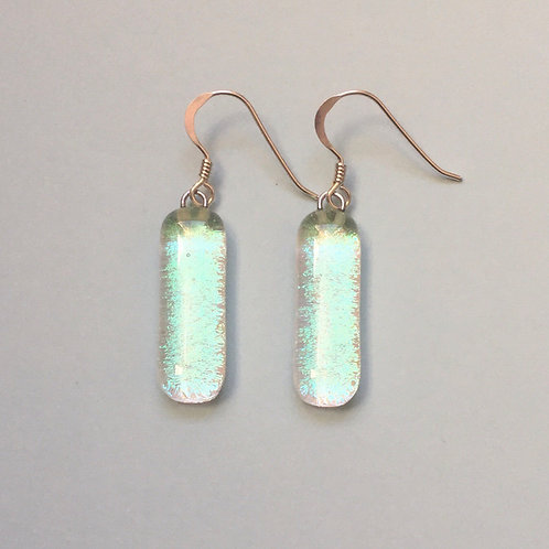 Sparkly Dichroic Glass Earrings