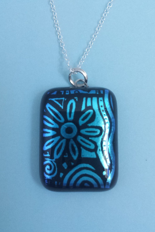 Patterned Dichroic Glass Pendant