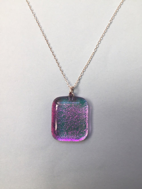 Pink Dichroic Glass Pendant
