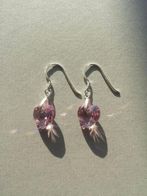 Rose Swarovski Earrings
