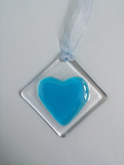 Turquoise Glass Heart