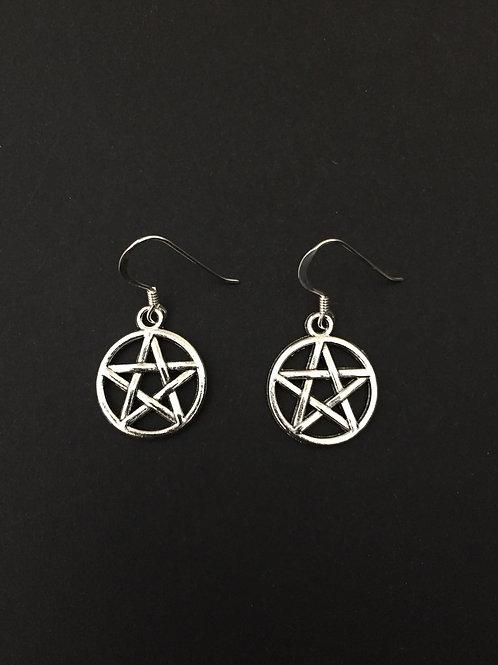 Pentagram Star Earrings