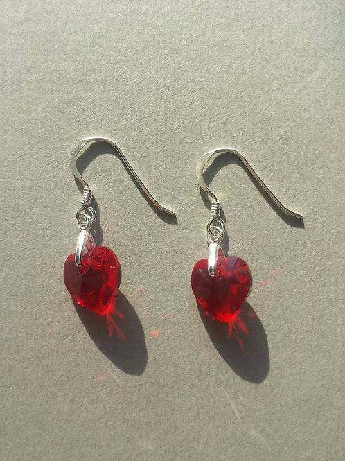 Light Red Swarovski Earrings