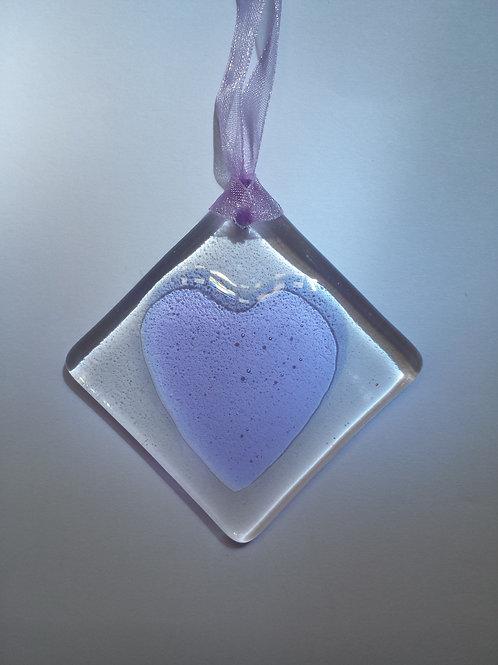 Lavender Glass Heart