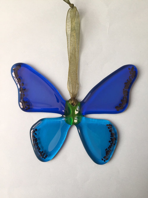 Blue Glass Butterfly