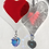 Thumbnail: Red Glass Heart with Austrian Crystal