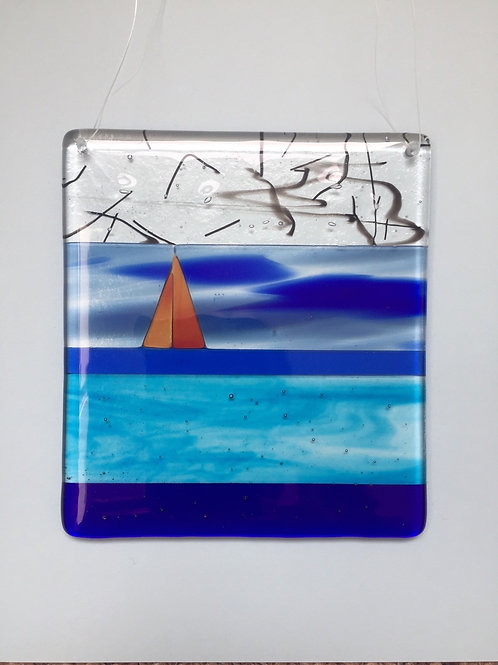 Glass Sailing Boat