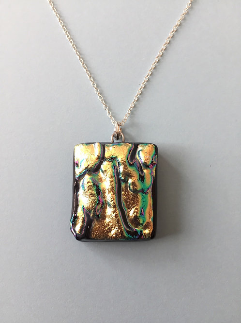 Textured Dichroic Glass Pendant