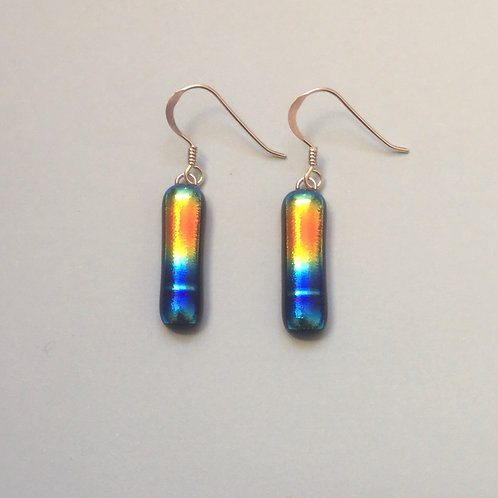 Multicoloured Dichroic Glass Earrings