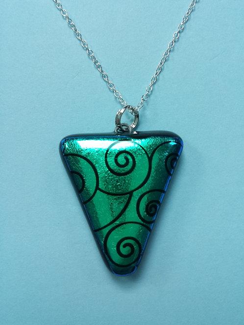 Dichroic Glass Swirl Pendant
