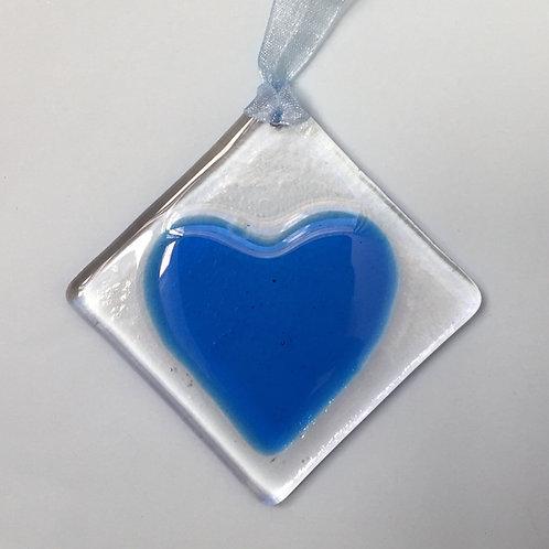Light Blue Glass Heart