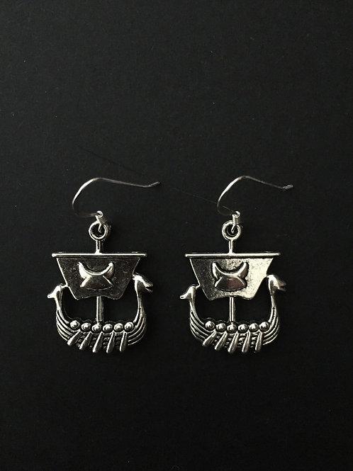 Viking Boat Earrings