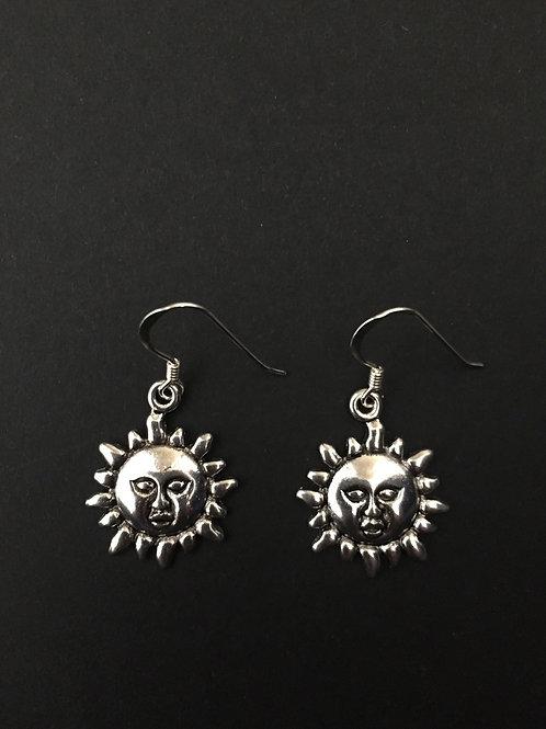 Sun Face Earring