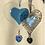 Thumbnail: Blue Glass Heart with Austrian Crystal