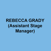 REBECCA GRADY (Assistant Stage Manager) recently graduated from Muhlenberg College with a BA in theatre concentrating in stage management. Stage Manager credits at Muhlenberg include Seussical, The Mystery of Edwin Drood, and Anyone Can Whistle. Rebecca spent the summer at the Shakespeare Theatre of New Jersey's Summer Professional Training Program as a development intern.