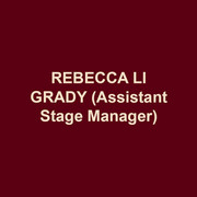 REBECCA LI GRADY(Assistant Stage Manager) served as the assistant stage manager for DTC's MAURICE HINES IS TAPPIN' THRU LIFE, PLAYING THE ASSASSIN, and NUREYEV'S EYES. She recently graduated from Muhlenberg College with a BA in theatre concentrating on stage management. Stage Manager credits at Muhlenberg include SEUSSICAL, THE MYSTERY OF EDWIN DROOD, and ANYONE CAN WHISTLE. Rebecca spent the summer at the Shakespeare Theatre of New Jersey's Summer Professional Training Program as a development intern.