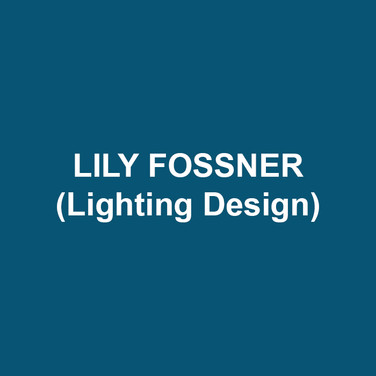 LILY FOSSNER (Lighting Design) DTC debut. Recently: Hapgood at the Lantern, The Laramie Project at Theatre Horizon, Camelot at Act II. Theatre Includes: People's Light, 1812, Resident Theatre Company, WAM, TACT, Culture Project, Public Theatre, Prospect Theater Company, NYU/Grad Acting, Chautauqua Theater Company, Berkshire Theatre Group, Radio City Christmas Spectacular. Dance Includes: Nichole Canuso, Doug Varone & Dancers, Monica Bill Barnes & Company. Opera Includes: Juilliard Opera Theatre, Glimmerglass Festival. Training: MFA, NYU/Tisch. Adjunct faculty at Bryn Mawr College. Upcoming: The Government Inspector at Bryn Mawr. Website: lilyfossner.com.