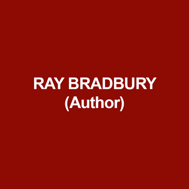 RAY BRADBURY (Author) (1920–2012) is considered one of America's greatest writers of the Twentieth Century. The author of more than three dozen books, including Fahrenheit 451, The Martian Chronicles, The Illustrated Man, Dandelion Wine, and Something Wicked This Way Comes, as well as hundreds of short stories, Bradbury also wrote for the stage, cinema, and  TV, including the screenplay for John Huston's Moby Dick, the Emmy Award–winning teleplay The Halloween Tree, and adapted for television sixty-five of his stories for The Ray Bradbury Theater. He was the recipient of the 2000 National Book Foundation's Medal for Distinguished Contribution to American Letters, the 2007 Pulitzer Prize Special Citation, and numerous other honors.