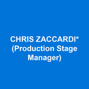 CHRIS ZACCARDI (Production Stage Manager) is excited to return to A Sign of The Times after being a part of its Goodspeed Debut. Broadway: Hello Dolly!,  Nosies Off!, Vanya and Sonia and Masha and Spike, The Anarchist, One Man Two Guvnors, Hair, In The Heights, 9 to 5 the Musical, Wicked, A Chorus Line, Lestat The Musical & All Shook Up. Off-Broadway: Disenchanted, Evil Dead The Musical, Recent Tragic Events. Tours:  Hair, Pippin, Blue's Clue's Live and Blast. Regional:  Goodspeed Opera House, Long Wharf, American Repertory Theater, North Carolina Theatre, Walt Disney World. Professor of Stage Management at Pace University. Love to Niall & Monty.