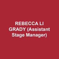 REBECCA LI GRADY(Assistant Stage Manager) served as the assistant stage manager for DTC's Maurice Hines is Tappin' Thru Life. She recently graduated from Muhlenberg College with a BA in theatre concentrating in stage management. Stage Manager credits at Muhlenberg include Seussical, The Mystery of Edwin Drood, and Anyone Can Whistle. Rebecca spent the summer at the Shakespeare Theatre of New Jersey's Summer Professional Training Program as a development intern.