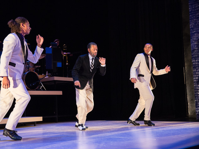 Leo Manzari, Maurice Hines, John Manzari. Photo by Matt Urban, NüPOINT Marketing.
