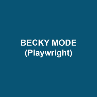 """BECKY MODE (Playwright) A former actress, waitress, and coat check girl, Becky Mode has written the play Fully Committed, and has written for HBO (""""A Little Curious""""), CBS (""""Cosby""""), Disney (""""Out of the Box,"""" """"JoJo's Circus,"""" and """"PB&J Otter""""), Nickelodeon (""""Little Bill""""), Columbia Pictures (""""Cactus Flower"""") and ABC (""""Born in Brooklyn"""" pilot, """"Fully Committed"""" pilot with Jay Roach and Tribeca Films). She is currently working on """"JoJo's Circus"""" for the Disney Channel. She is the proud mother of Leo and Kate."""