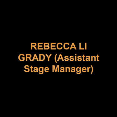 REBECCA LI GRADY (Assistant Stage Manager) served as the Assistant Stage Manager for DTC's MAURICE HINES IS TAPPIN' THRU LIFE and PLAYING THE ASSASSIN. She recently graduated from Muhlenberg College with a BA in theatre concentrating on stage management. Stage Manager credits at Muhlenberg include SEUSSICAL, THE MYSTERY OF EDWIN DROOD, and ANYONE CAN WHISTLE. Rebecca spent the summer at the Shakespeare Theatre of New Jersey's Summer Professional Training Program as a development intern.