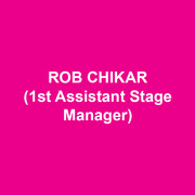 ROB CHIKAR (1st Assistant Stage Manager) most recently was the Production Stage Manager of the Geffen Playhouse Production of THESE PAPER BULLETS. Selected credits include; Broadway: THE KING AND I, Larry David's FISH IN THE DARK, and YOU CAN'T TAKE IT WITH YOU. Regional: THESE PAPER BULLETS and IN A YEAR WITH 13 MOONS (Yale Repertory Theatre); TRAVESTIES (Bay Street Theatre); THE PIRATES OF PENZANCE (Oregon Shakespeare Festival); IPHIGENIA AMONG THE STARS, DOCTOR FAUSTUS LIGHTS THE LIGHTS, and JULIUS CEASAR (Yale School of Drama). He holds a B.F.A from Southern Oregon University and a M.F.A from Yale School of Drama. Rob is a proud member of Actors' Equity Association.