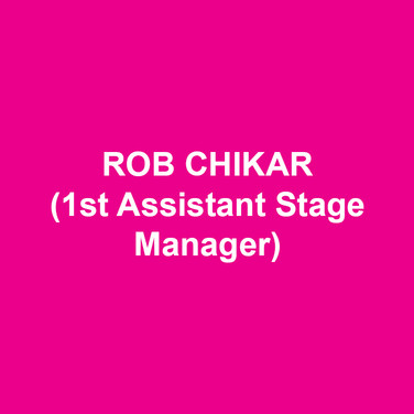 ROB CHIKAR(1st Assistant Stage Manager) most recently was the Production Stage Manager of the Geffen Playhouse Production of THESE PAPER BULLETS. Selected credits include; Broadway: THE KING AND I, Larry David's FISH IN THE DARK, and YOU CAN'T TAKE IT WITH YOU. Regional: THESE PAPER BULLETS and IN A YEAR WITH 13 MOONS (Yale Repertory Theatre); TRAVESTIES (Bay Street Theatre); THE PIRATES OF PENZANCE (Oregon Shakespeare Festival); IPHIGENIA AMONG THE STARS, DOCTOR FAUSTUS LIGHTS THE LIGHTS, and JULIUS CEASAR (Yale School of Drama). He holds a B.F.A from Southern Oregon University and a M.F.A from Yale School of Drama. Rob is a proud member of Actors' Equity Association.