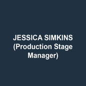 JESSICA SIMKINS is a free-lance stage manager and production manager. Credits include 11th Hour Theatre Company, Actors Theatre of Kansas City, Amaryllis Theatre, Brat Productions, Delaware Shakespeare Festival, Delaware Theatre Company, Gas and Electric Arts, Inis Nua Theatre, Kansas City Ballet, Kansas City Repertory Theatre, Montgomery Theatre, New Paradise Laboratories, The New Theatre, San Jose Repertory Theatre and the Walnut Street Theatre. She also serves as general manager for Inis Nua Theatre Company. MFA: University of Missouri- Kansas City. Love to Dave, Daphne and Clark.