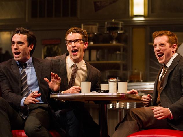 Ari Brand, Matthew James Thomas, Noah Weisberg, and Ethan Slater. Photo by Matt Urban, NüPOINT Marketing.