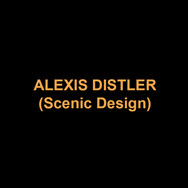 ALEXIS DISTLER(Scenic Design) Recent credits include NUREYEV'S EYES (George Street Playhouse), TOAST (The Public Theater), THREE SISTERS (Playmakers Theatre), INTIMATE APPAREL (Chautauqua Theater Company), IL TURCO IN ITALIA (Juilliard Opera), TROUBLE IN MIND (Playmakers Theatre), NORA (Delaware Theatre Company), AUTUMN'S HARVEST (Lincoln Center Education), WATER BY THE SPOONFUL (The Arden Theatre Company), YEAR OF THE ROOSTER (Ensemble Studio Theatre), SEVEN GUITARS (People's Light and Theatre Company), THE MARRIAGE OF FIGARO (Juilliard Opera), Winner of the Barrymore Award for IN THE NEXT ROOM OR THE VIBRATOR PLAY (The Wilma Theater). MFA:NYU.www.alexisdistler.com