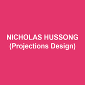 NICHOLAS HUSSONG (Projections Design) Off-Broadway credits include: Until the Flood (Rattlestick Playwrights Theatre, Goodman, Milwaukee Rep, St. Louis Rep, ACT Seattle), White Guy on the Bus (59E59, Delaware Theatre Company), Skeleton Crew (Atlantic Theater Company), These Paper Bullets! Drama Desk Nomination (Atlantic Theater Company, Geffen Playhouse, Yale Rep) Chix 6 (LaMama). Some regional credits include: A Streetcar Named Desire (Le Petit Theatre du Vieux Carre), Grounded (Alley Theatre), Two Trains Running (Arden Theater), The Mountaintop (Playmakers Rep), Million Dollar Quartet (Berkshires Theatre Group) as well as productions with the Ireland Arts Council, Enchantment Theatre Company, Urban Bush Women, Delaware Theatre Company, St. Louis Rep, Esperanza Spaulding, Lantern Theatre Company, Abrons Art Center, Tiny Dynamite, Premieres NYC, Ars Nova, Heartbeat Opera, Cantata Profana, Nashville Symphony, Hartford Symphony, I am a Boys Choir, Summerworks Toronto, and Joe's Pub. Nicholas was the Artistic Associate at Triad Stage in Greensboro, North Carolina where he continues to design new works based on Appalachian life written by Preston Lane. 70th & 71st Tony Awards (CBS) On Your Feet (Associate on Broadway, Marquee). NewNeighborhood.com Nickhussong.com