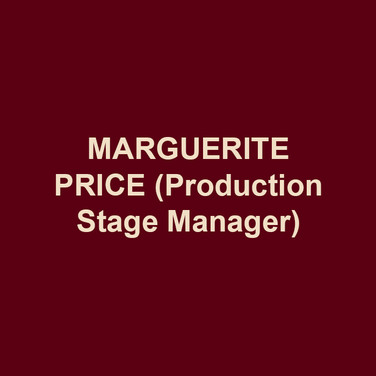 MARGUERITE PRICE (Production Stage Manager) is in her fourth season at DTC. This production marks her fifteenth with Bud Martin. Other recent regional credits include: Peoples' Light, Asolo Repertory Theatre and PlayPenn New Play Conference. She was privileged to spend ten seasons as the Production Stage Manager at Act II Playhouse. Margie is a proud member of Actors' Equity Association and was its Philadelphia Liaison from May 2005 – January 2007. She is also a Past-Chair of the Stage Managers' Association.