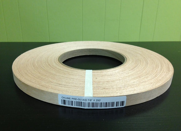 "OKUME WOOD EDGEBANDING PREGLUED (1 1/4"" TO 2"")"