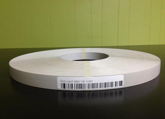 "LIGHT GREY PVC EDGEBANDING NONGLUED 7/8"" x 600'"