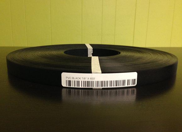 """BLACK PVC EDGEBANDING PRE GLUED 7/8"""" x 300'"""